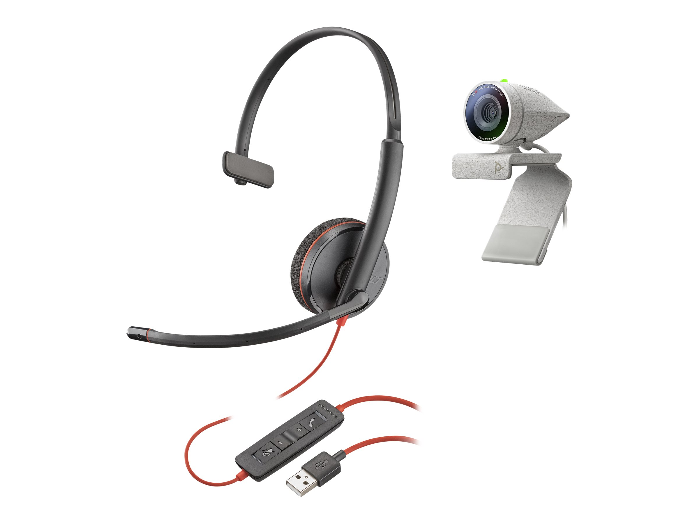 Poly Studio P5 - video conferencing kit - with Poly Blackwire 3210 Headset