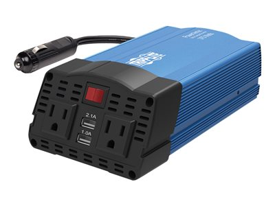 Tripp Lite 375W Ultra-Compact Car Power Inverter with 2 AC Outlets, 2 USB Charging Ports AC to DC - DC to AC power inverter - 375 Watt