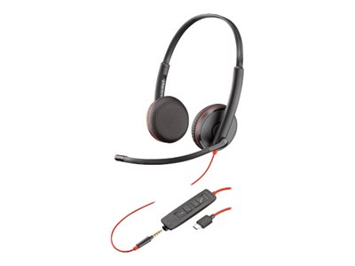Poly Blackwire C3225 USB-C - 3200 Series - headset - on-ear - wired - 3.5 mm jack, USB-C - noise isolating