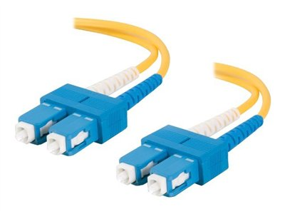 C2G 2m SC-SC 9/125 Duplex Single Mode OS2 Fiber Cable Yellow 6ft Patch cable