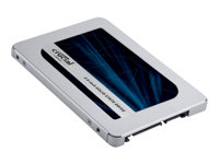 "Crucial MX500 - Solid state drive - encrypted - 500 GB - internal - 2.5"" - SATA 6Gb/s - 256-bit AES - TCG Opal Encryption 2.0"