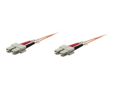 Intellinet Fibre Optic Patch Cable, OM1, SC/SC, 20m, Orange, Duplex, Multimode, 62.5/125 µm, LSZH, Fiber, Lifetime War…