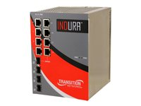 Transition Networks Indura Switch managed 4 x 10/100/1000 + 4 x SFP DIN rail mountable