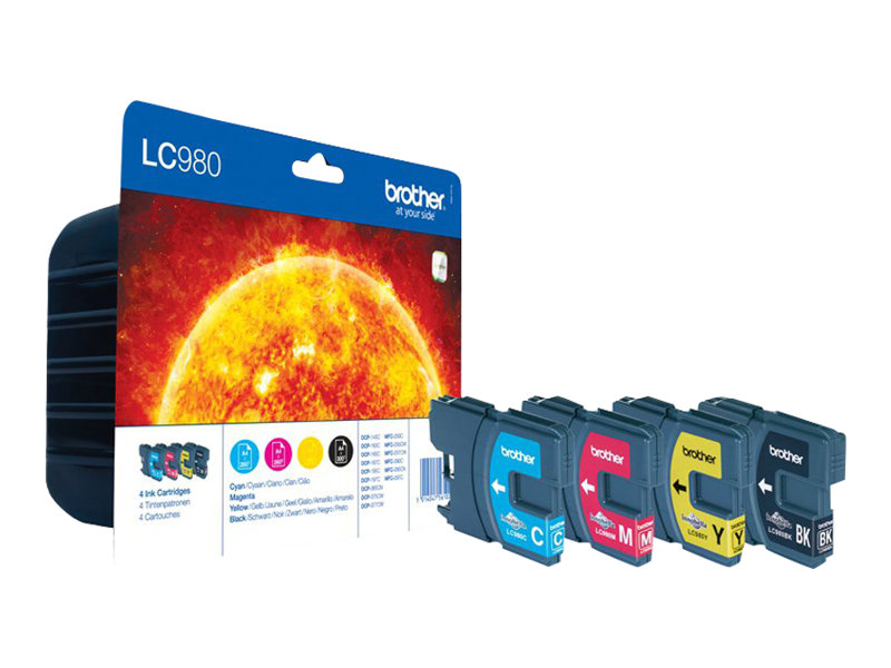 Brother LC980 Pack de 4 couleurs