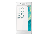 "Sony XPERIA X - F5121 - smartphone - 4G LTE - 32 GB - microSDXC slot - GSM - 5"" - 1920 x 1080 pixels - IPS - 23 MP (13 MP front camera) - Android - white"