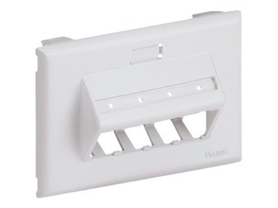 Panduit MINI-COM Ultimate ID Sloped Snap-on Faceplate - faceplate