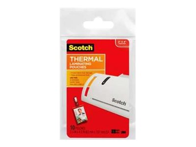Scotch Clear 2.5 in x 4.25 in lamination pouches