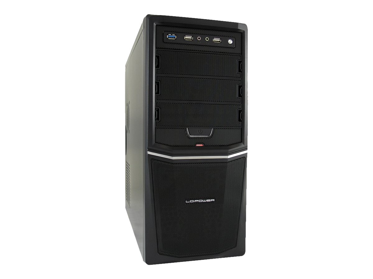 LC Power Pro-Line PRO-924B - Midi Tower - ATX 350 Watt (ATX12V 2.31) - Schwarz - USB/Audio