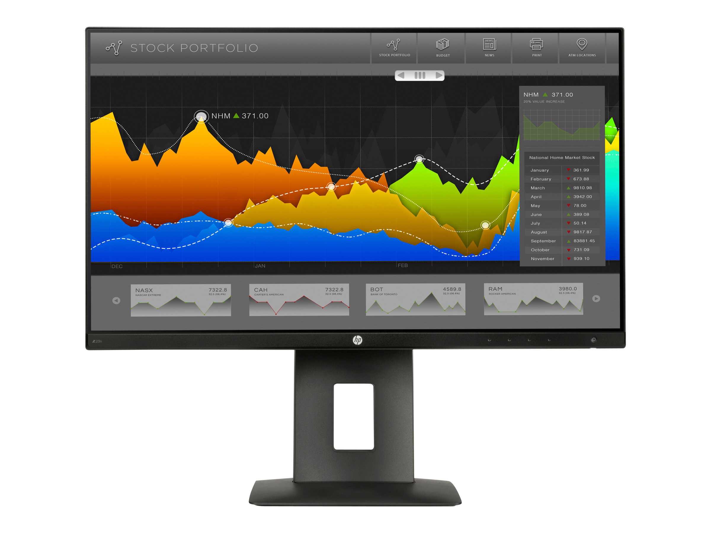 HP Z Display Z23n - LED-Monitor - 58.42 cm (23