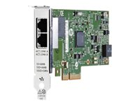 HPE 361T - Network adapter - PCIe 2.0 x4 low profile - Gigabit Ethernet x 2 - for ProLiant DL20 Gen10, DL20 Gen9, DL360 Gen10, DL380 Gen10, ML30 Gen10, ML350 Gen10