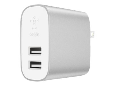 Belkin BOOST CHARGE 2-Port Home Charger power adapter - USB - 24 Watt