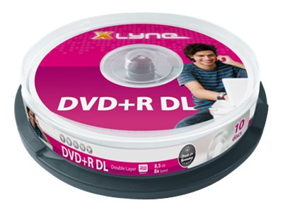 xlyne - 10 x DVD+R DL - 8.5 GB 8x - Spindel