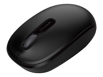 Microsoft Wireless Mobile Mouse 1850 for Business - Mouse - right and left-handed - optical - 3 buttons - wireless - 2.4 GHz - USB wireless receiver - black