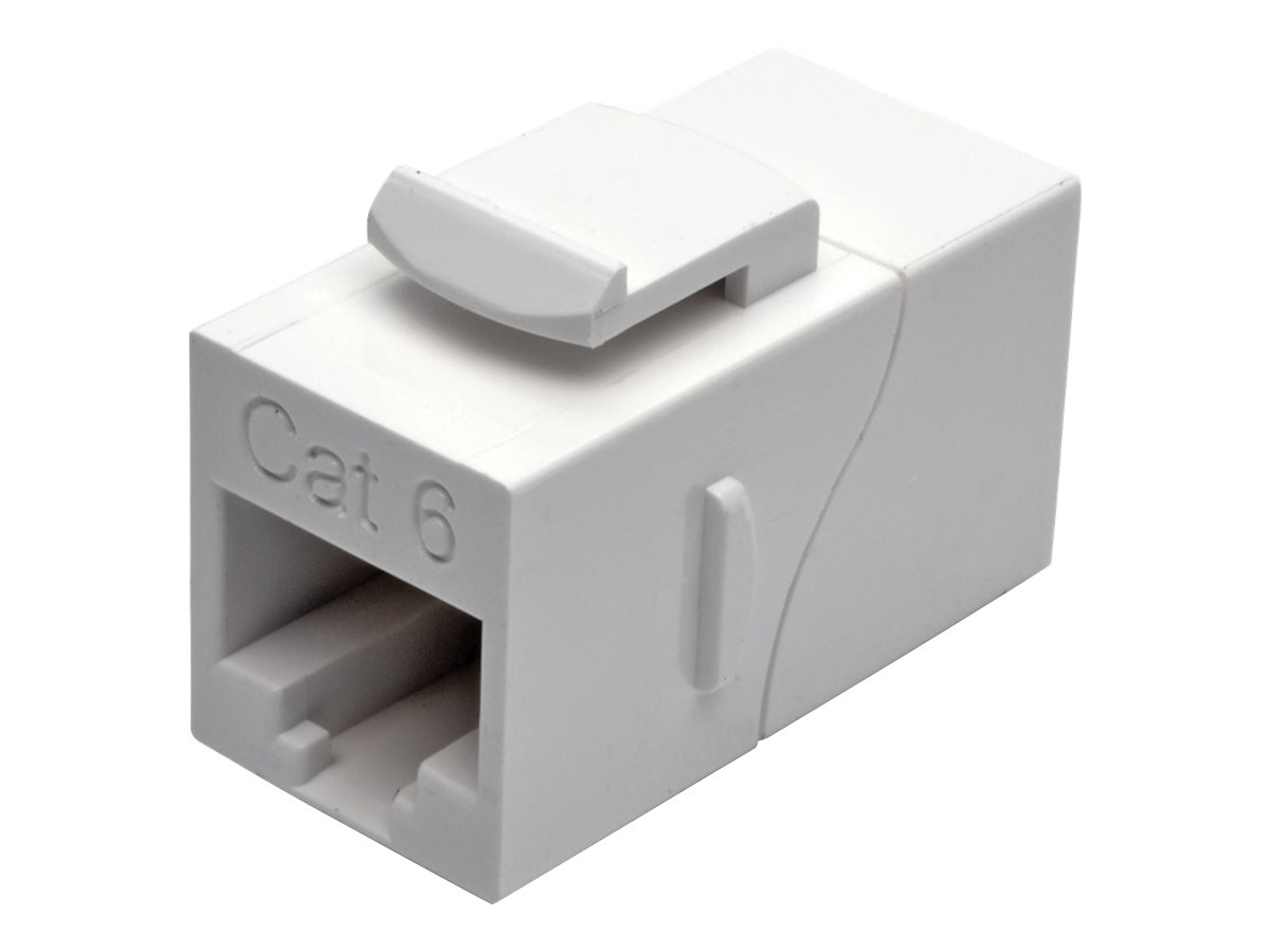 Tripp Lite Straight-Through Modular In-Line Snap-In Coupler - network coupler - TAA Compliant - white