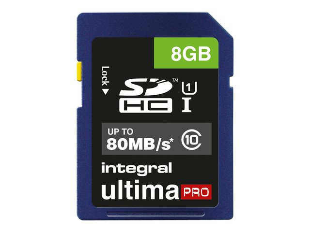 Integral UltimaPro - Carte mémoire flash - 8 Go - UHS Class 1 / Class10 - SDHC UHS-I
