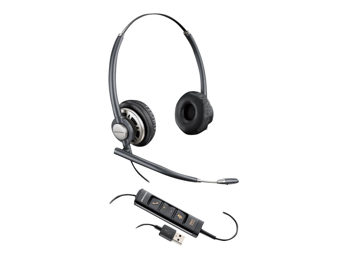 Plantronics EncorePro HW725 - Headset - On-Ear - kabelgebunden - USB