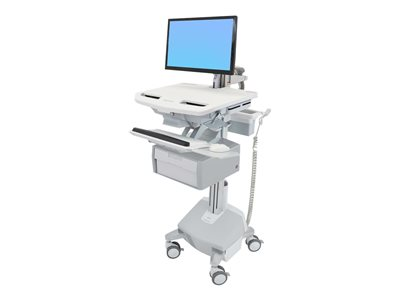 Ergotron StyleView Cart with LCD Arm, LiFe Powered, 2 Tall Drawers