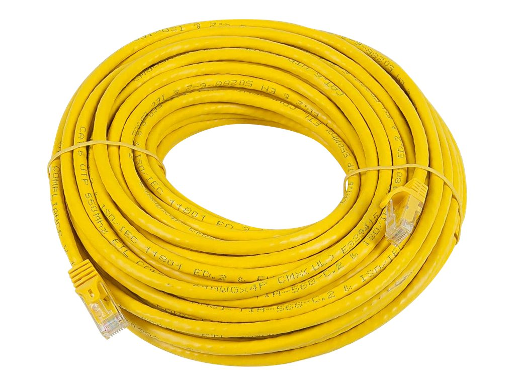 Monoprice FLEXboot Series patch cable - 22.9 m - yellow