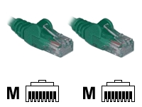 1M Green RJ45 UTP CAT 5e Stranded Flush Moulded Snagless Network Cable 24AWG