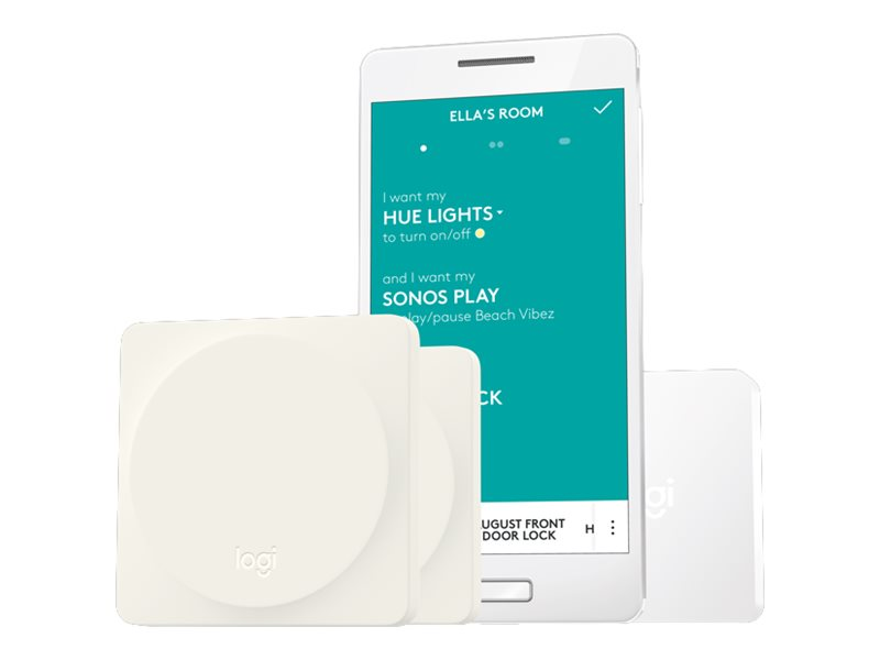 Logitech POP Home Switch Starter Pack - Schalter - kabellos - Bluetooth, Wi-Fi - weiß (Packung mit 2)