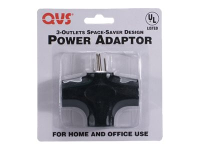 QVS Space-Saver Grounded Power Outlet Splitter - power strip - 1875 Watt