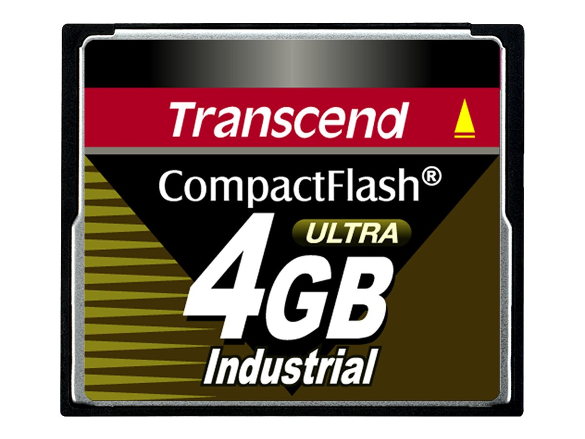 Transcend Ultra Speed Industrial - flash memory card - 4 GB - CompactFlash