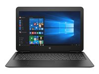 """HP Pavilion 15-bc401nf - Core i5 8250U / 1.6 GHz - Win 10 Familiale 64 bits - 8 Go RAM - 1 To HDD - 15.6"""" 1920 x 1080 (Full HD) - NVIDIA GeForce GTX 1050 - Wi-Fi, Bluetooth - motif brossé vertical, ombre noire (couvercle et base), black keyboard frame - kbd : AZERTY French"""