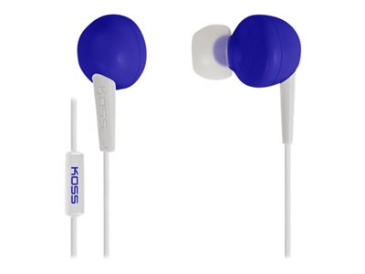 Koss KEB6ib Earphones with mic in-ear wired 3.5 mm jack blue