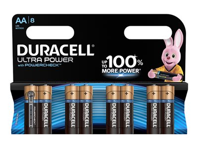Piles & Chargeurs Duracell Ultra Power LR06 - 8 piles - AA