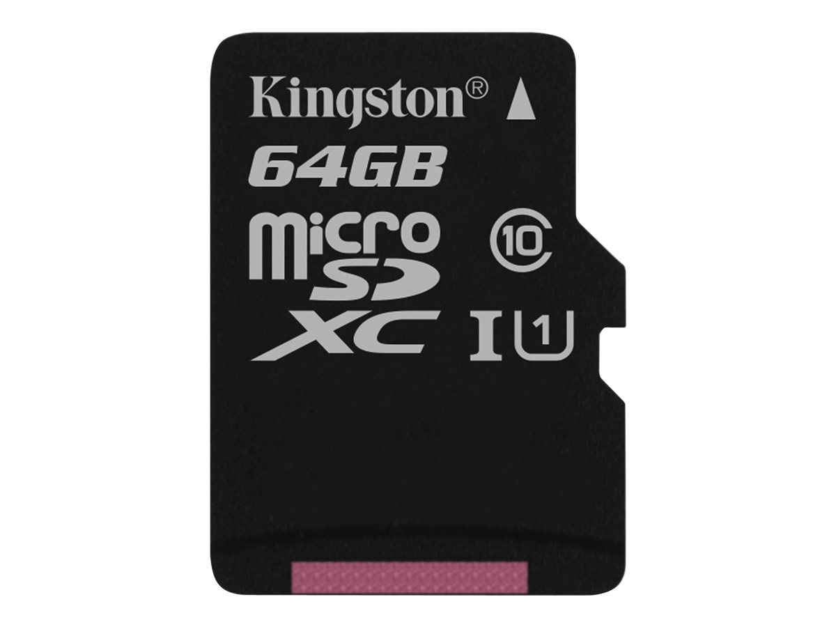 Kingston - Flash-Speicherkarte - 64 GB - UHS Class 1 / Class10 - microSDXC UHS-I