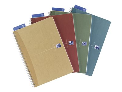 Cahiers A4 21x29.7 cm Oxford Office Recycled - A4 - Cahier - 21 x 29,7 - 180 pages - Petits carreaux