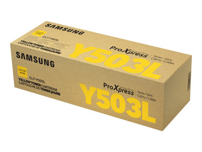 Samsung CLT-Y503L High Yield yellow original toner cartridge (SU494A)