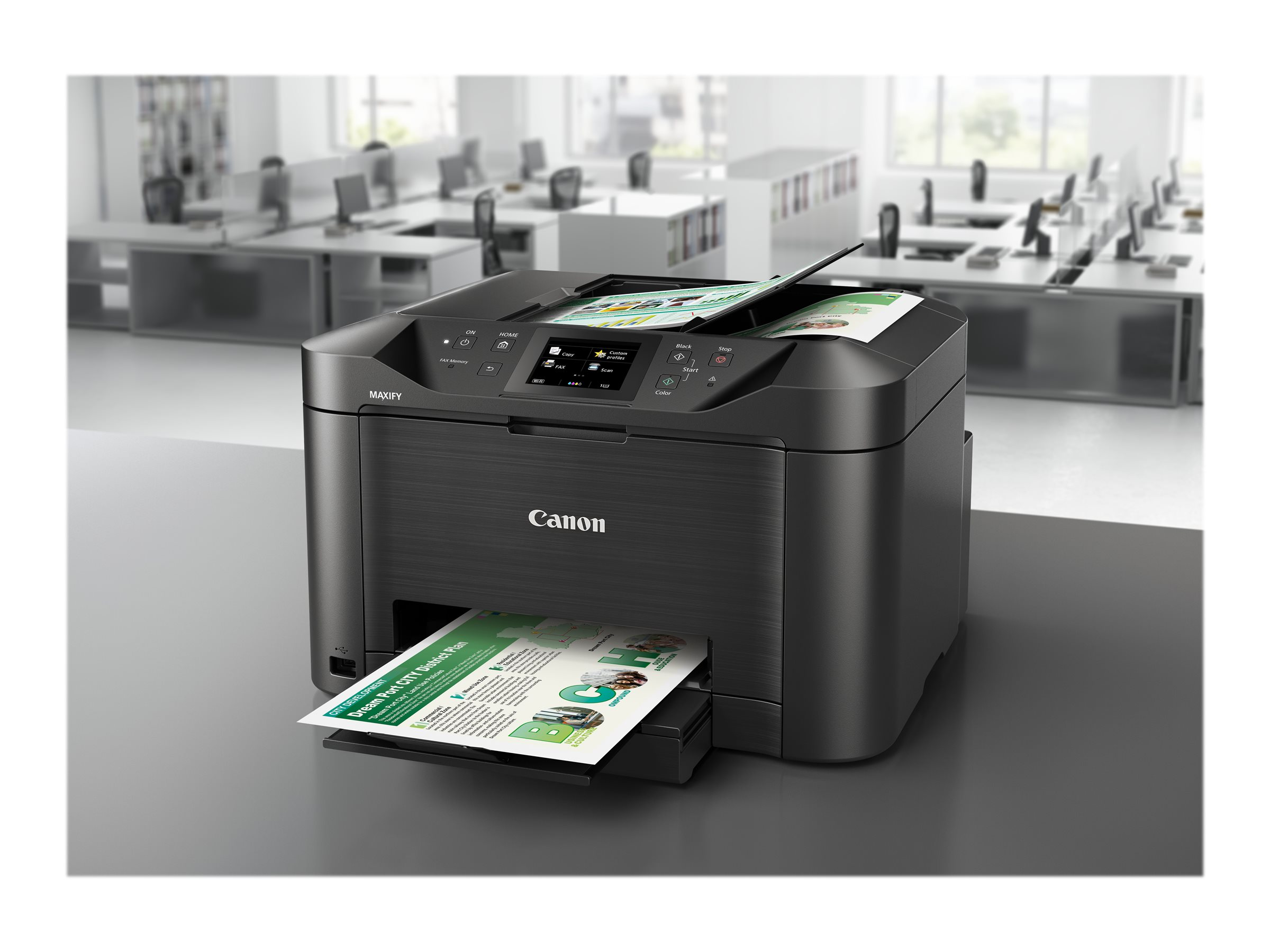 Canon MAXIFY MB5155 - Multifunktionsdrucker - Farbe - Tintenstrahl - A4 (210 x 297 mm), Legal (216 x 356 mm) (Original) - A4/Legal (Medien)