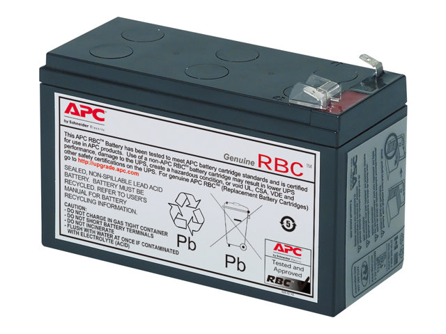 apc replacement battery cartridge 106 batterie d 39 onduleur acide de plomb apcrbc106. Black Bedroom Furniture Sets. Home Design Ideas