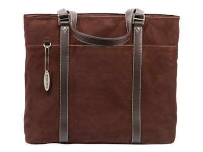 Mobile Edge Chocolate Suede 15.6INCH to 17.3INCH Notebook Tote Notebook carrying case choco