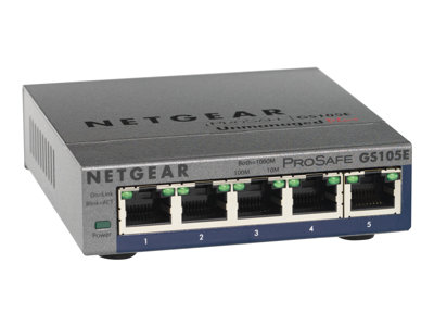 NETGEAR  GS105Ev2 Switch 5-porte Gigabit