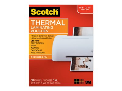 Scotch 50-pack clear 226 x 292 mm lamination pouches
