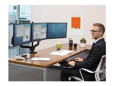 Fellowes Platinum Series Triple Arm - desk mount (adjustable arm)