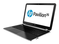 """HP Pavilion 15-n067nr - A8 5545M / 1.7 GHz - Win 8 64-bit - 6 GB RAM - 750 GB HDD - DVD SuperMulti - 15.6"""" HD BrightView 1366 x 768 (HD) - Radeon HD 8510G - brushed aluminum, natural silver"""