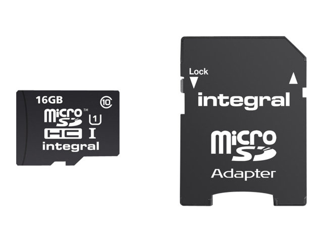 Integral UltimaPro - Carte mémoire flash (adaptateur microSDHC - SD inclus(e)) - 16 Go - Class 10 - micro SDHC