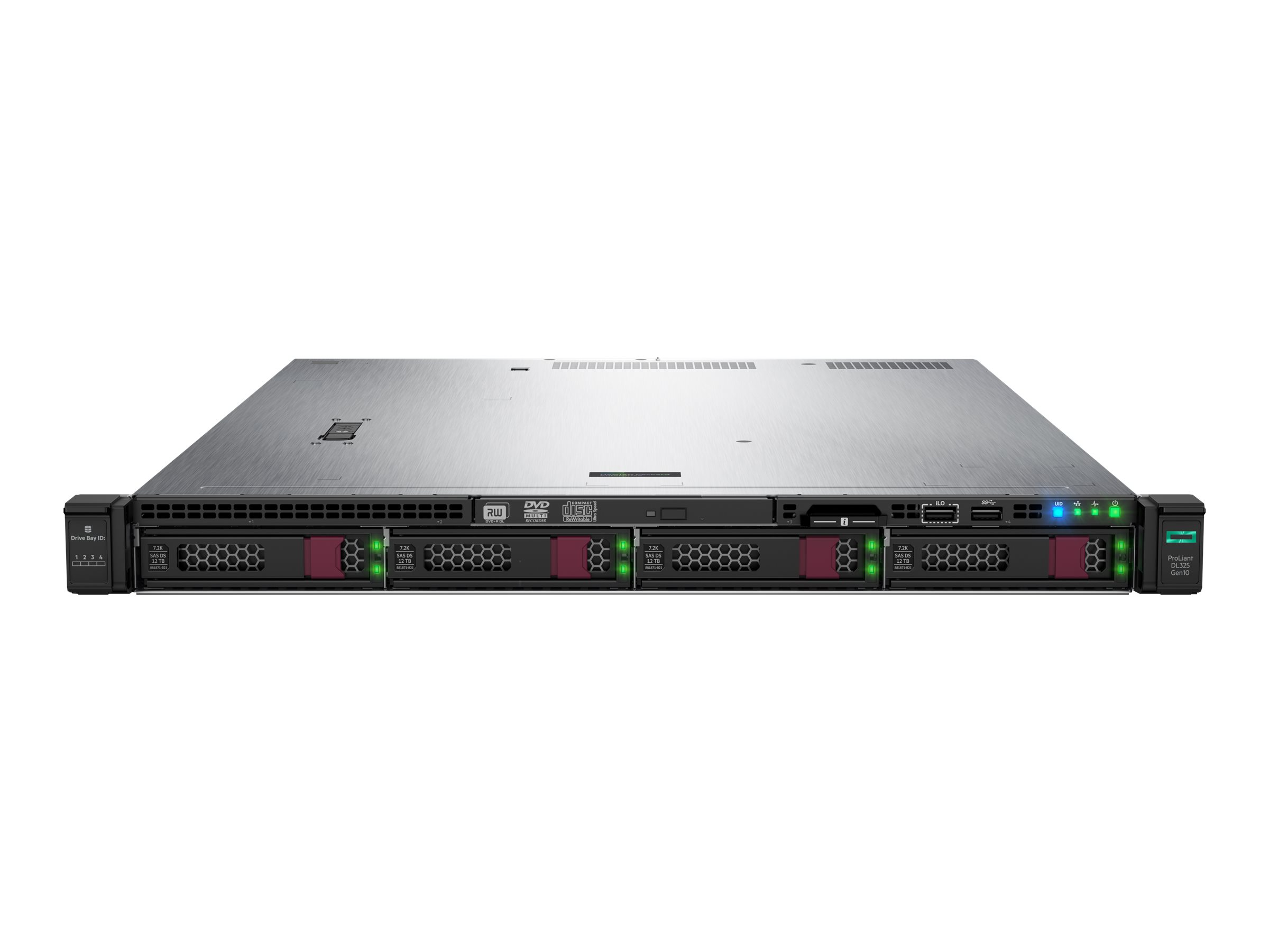 HPE ProLiant DL325 Gen10 Entry - rack-mountable - EPYC 7251 2.1 GHz - 8 GB - no HDD