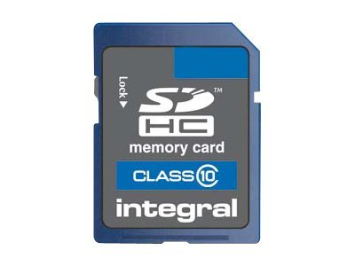 Integral - Carte mémoire flash - 4 Go - Class 10 - 133x - SDHC