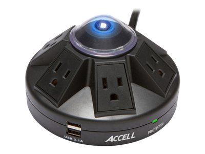 Accell Powramid Power Center and USB Charging Station - surge protector - 1800 Watt