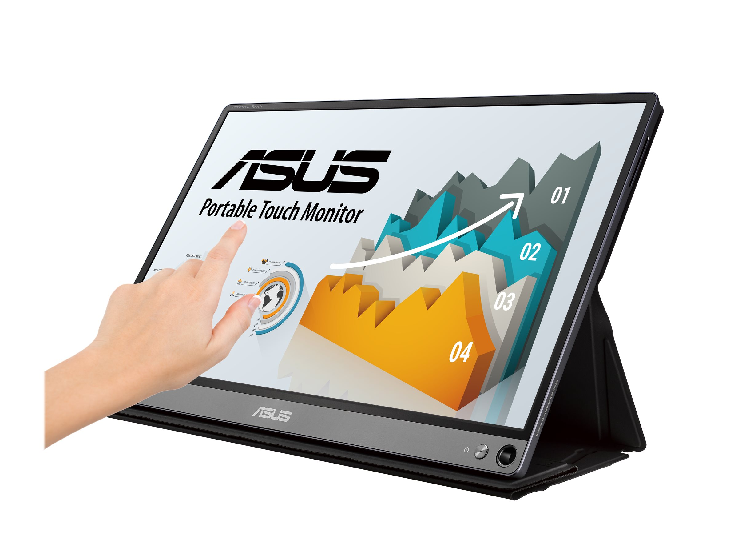 """ASUS ZenScreen Touch MB16AMT - LCD monitor - Full HD (1080p) - 15.6"""""""