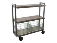 ürb SPACE Trolley 3 shelves 3 tiers powder-coated steel green