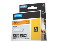 Picture of DYMO - vinyl - 1 roll(s) - Roll (1.2 cm x 5.5 m) (18435)
