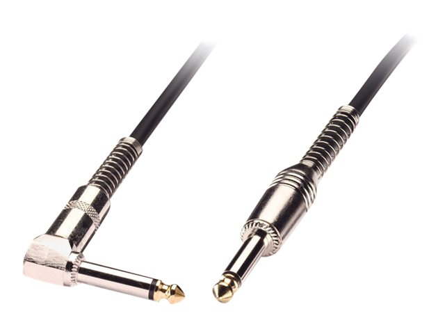 Lindy Guitar Lead - Audio cable - mono jack (M) to mono jack (M) - 1 m - shielded - black - right-angled connector