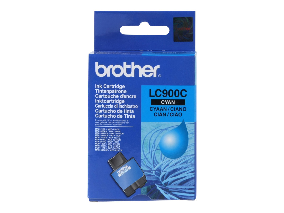Brother LC900C - Cyan - Original - Tintenpatrone - für Brother DCP-115, 117, 120, 315, 340, MFC-210, 215, 3240, 3340, 410, 425, 5440, 640, 820