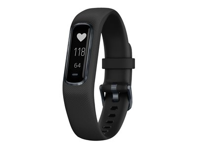 Garmin vivosmart 4 Midnight black activity tracker with band silicone black