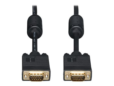 30-ft. Tripp Lite VGA Coax Monitor Cable with audio HD15 and 3.5mm M//M High Resolution cable with RGB coax P504-030